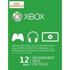 12 mois Carte Abonnement Xbox Live Gold 1 an pour Xbox 360 et Xbox One FR