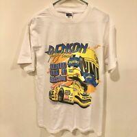 Johnny Benson Vintage 1998 NASCAR White TShirt Double Sided Print Size XL