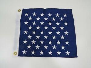 """New 13 inch x 15 inch Nyl-Glo """"US UNION JACK EMBLEM""""  Flag Pennant (C2.5B392A)"""