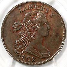 1802 S-239 PCGS AU 53 CC level Draped Bust Large Cent Coin 1c