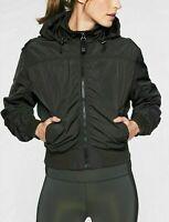ATHLETA Point Reyes Bomber  S Small | Black Olive Hooded Jacket Coat NEW