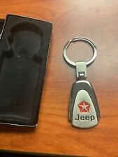 JEEP   Keyring Key Chain  New  Color Silver Metal New