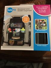 Safefit Backseat And Stroller Organizer, NEW! Black