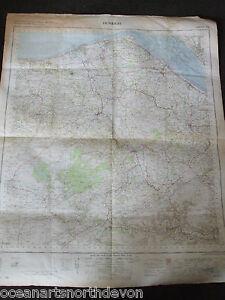 ORDNANCE SURVEY MAP DENBIGH 1961 LARGE COLOUR ONE INCH TO ONE MILE VINTAGE