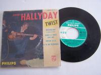 EP 45 T VINYLE 4 T , JOHNNY HALLYDAY , WAP - DOU - WAP . VG - / G , + LANGUETTE