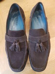 Men's Sebago Dark Brown Suede Sussex Tassel Loafers, Size 9W, Worn Once