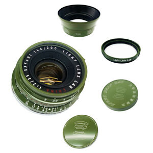Light lens lab Lens 35mm F2 F/2 Hunter Green for Leica Summicron M Eight Element