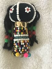 Ndebele Tribal South African Ceremonial Fertility Beaded Doll - 3� Tall