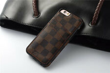 Luxury famous Pattern Grid Leather Back cover case for iphone  6 7 s plus LV8