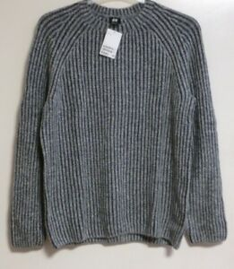 H&M Gerippter Pullover / jumper SIZE M RRP £34.99 BRAND NEW CR180 HH 07