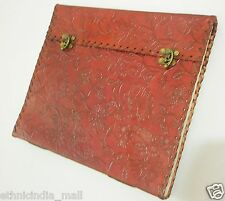 LARGE Handmade Leather Bound Journal Blank Grimoire Book of Shadows Wiccan Pagan