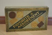 Vintage 1930s National Biscuit Co. Nabisco 2lb Tin - Favorite Assortment