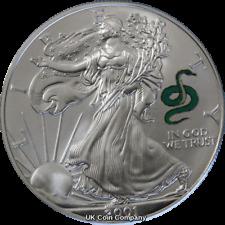 2001 American Eagle Liberty 1oz Silver $1 One Dollar Coin Snake Privy
