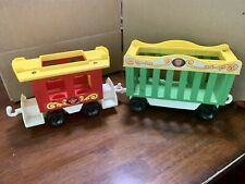 Vintage 1973 Fisher Price Circus Train #991 Two Train Cars