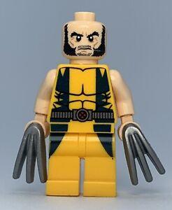 Lego Superheroes X-Men WOLVERINE *NO HAIR* Minifigure sh017 FAST SHIPPING!