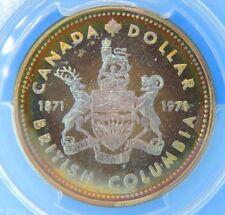 1971 Canada Silver Dollar Coin PCGS SP66 Specimen Proof Stunning Rainbow Toning