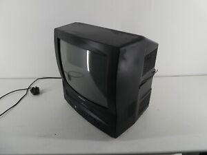 DAEWOO RETRO GAMING CRT/TUBE TELEVISION GB14H1N WITH VHS PLAYER NO REMOTE F24