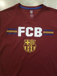 New Mens XL Barcelona FCB Tshirt XLarge Barca Soccer Futbol Shirt Maroon