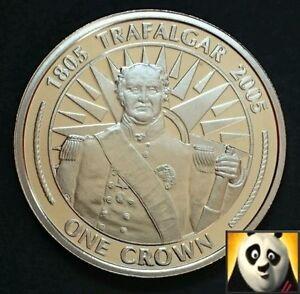 2005 GIBRALTAR 1 ONE CROWN COIN BATTLE OF TRAFALGAR LT. THOMAS HARDY UNC