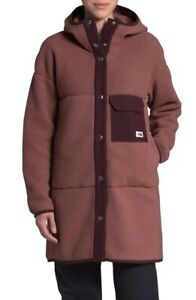 The North Face Women's Mashup Fleece Hooded Coat Red / Purple Size Small $179