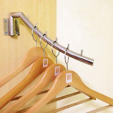 Silber Beweglich Kleiderstange -Wandhaken Haken Hängeaufbewahrung Falten