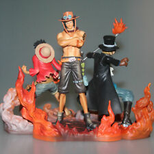 New 3PCS One Piece Attack Styling Luffy Ace Sabo DXF Brotherhood Figure in Box