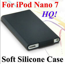HQ Soft Silicone Rubberized Case Cover Slim Skin For Apple iPod Nano 7 White&BLK