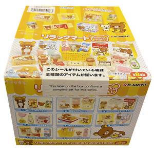 Rare 2012 Re-Ment Rilakkuma Supermarket Full Set of 8 pcs