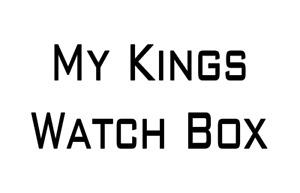 My Kings Watch Box Personalised Vinyl Sticker Decal