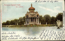 St. Louis Amerika America Missouri AK 1902 Pagoda Forest Park Pagode gelaufen