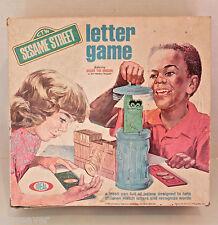 Vintage 1972 Sesame Street Oscar The Grouch Trash Can Letter Game
