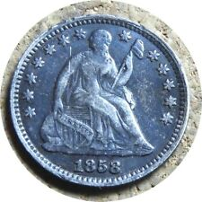 elf Seated Liberty Half Dime 1858  Drapery at Elbow