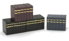 Blocks Of Books, Black Brown,  Dolls House Miniature, Book, Accessory