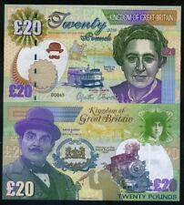 Great Britain 20 pounds, 2018, Agatha Christie, Hercule Poirot, Oriental Express
