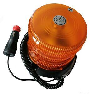 LED Amber Orange Beacon Bolt On Magnetic 12V/24V LED Flashing Light Recovery