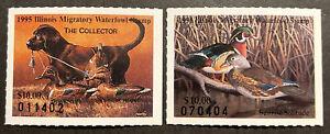 TDStamps: US Illinoise Duck Stamps (2) Mint NH OG