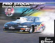 1998 Scott Geoffrion signed Mopar Dodge Avenger Pro Stock NHRA postcard