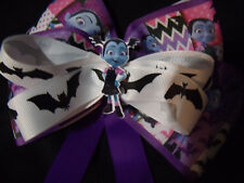 Halloween hair bow.Vampirena bow with bats and tails. halloween