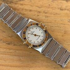 Omega Constellation Quartz Steel Gold Lady Watch Rare With Bracelet