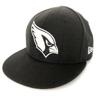 Arizona Cardinals Used Era 9Fifty Black Gray Trim Adjustable Snapback Hat Cap