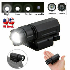 Tactical Compact Flashlight Picatinny Rail Mounted Light For Pistols/Rifle/Gun