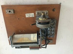 OLD BRITISH RAILWAY WOODEN LIDDED BOX SIGNAL SOLENOID ASSEMBLY  14 x 12cm