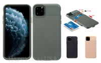 For Apple iPhone 11 Pro Max ShockProof Armor Rugged Cover Case w/Card Sim Holder