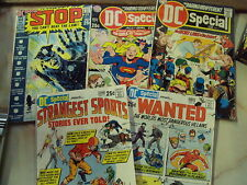 DC SPECIAL COMICS ISSUES 3 girls special 5 joe kubert 7 8 wanted 10 stop 1969 ST