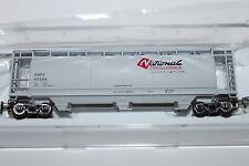 N Scale Bowser 37310 National Chemical 3 Bay Covered Cylindrical Hopper 60383