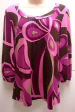 "*NWT INC Glazed ""Korea Swirl"" Blouse sz S-Org $59 Cute"