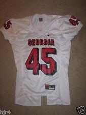 Georgia Bulldogs #45 UGA NCAA Nike Football Game Used Jersey LG