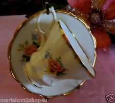VINTAGE IMPERIAL ENGLISH FLORAL BONE CHINA  CUP & SAUCER MOVING SALE  $2GO !