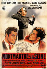 Montmartre Sur Seine Edith Piaf French cult movie poster print