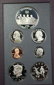 1996-S Prestige Proof Set 6 Gem Coins W/Olympic Silver $1 in US Mint OGP